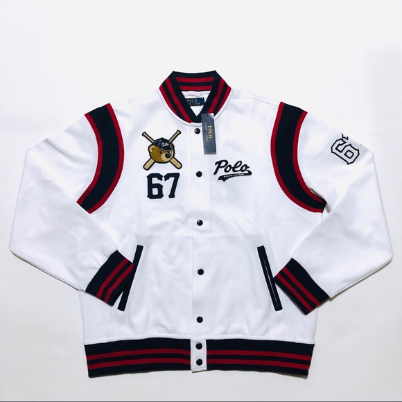 Nwt Ralph Jacket Bears White Polo Lauren Varsity QxshdCtr